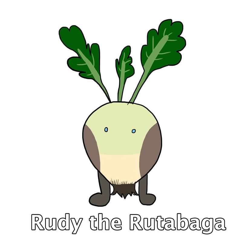 rudy the rutabaga - fluffy